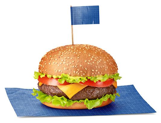 موکاپ همبرگر لایه باز