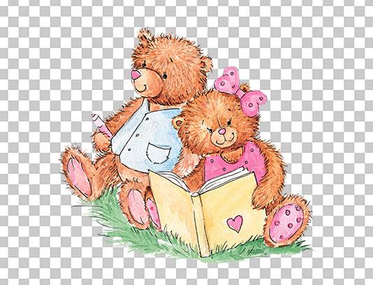عکس دوربری شده خرس آبرنگی