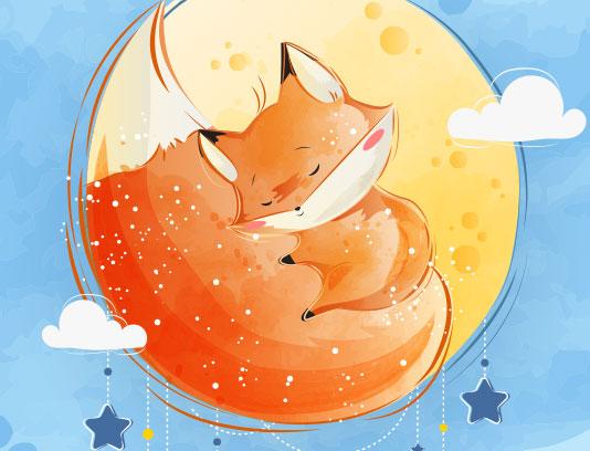 وکتور کاراکتر روباه کارتونی