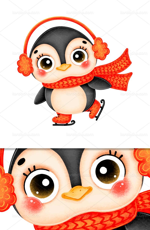 وکتور کاراکتر پنگوئن