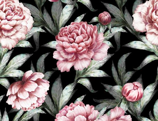 پترن و بکگراند گل و بته