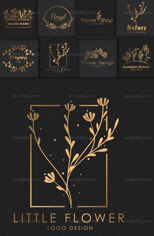 وکتور لوگو گل طلایی