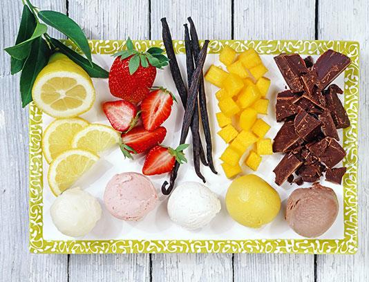 عکس بستنی اسکوپی میوه ای