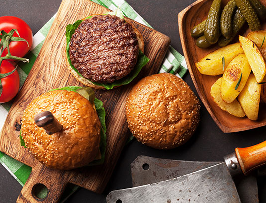 عکس همبرگر و خیارشور
