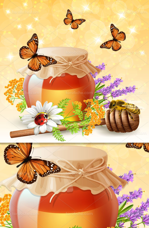وکتور عسل تازه و شیرین