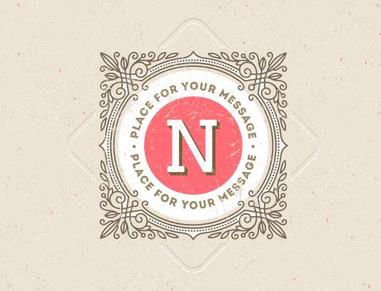 وکتور لوگو حرف N خلاقانه