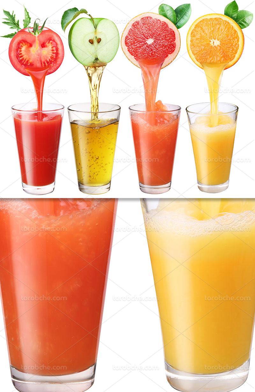 عکس انواع آب میوه با کیفیت