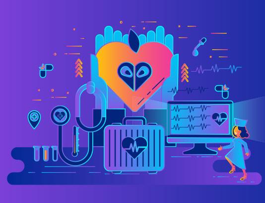 وکتور طرح پزشک آنلاین