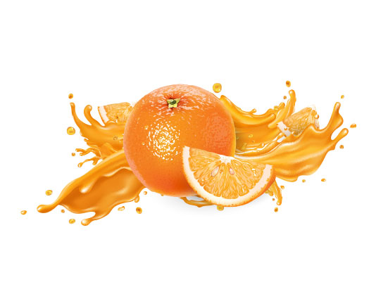 وکتور اسپلش پرتقال تازه