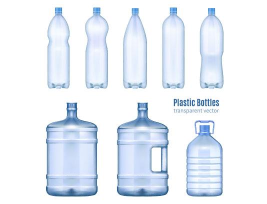 وکتور انواع بطری پلاستیکی