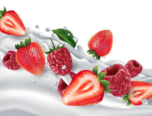 وکتور اسپلش شیر و میوه