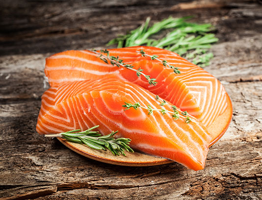 عکس ماهی سالمون تازه