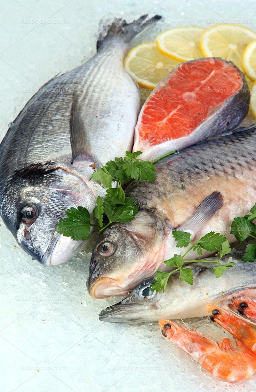 عکس ماهی با سبزی