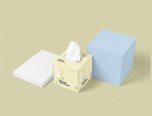 موکاپ جعبه دستمال کاغذی کوچک