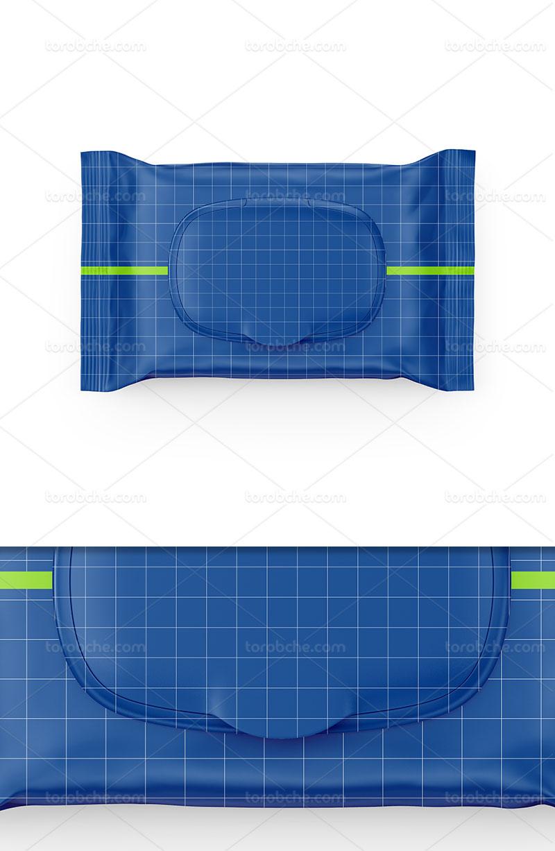 موکاپ بسته بندی دستمال مرطوب