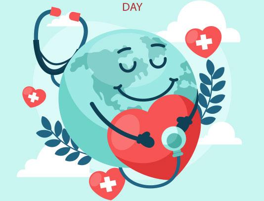 وکتور بنر روز جهانی سلامت آبی