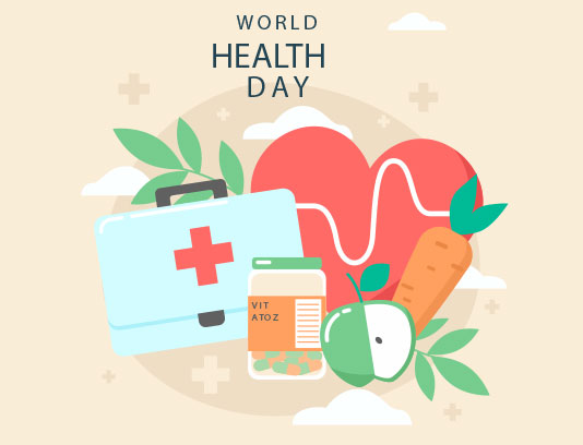 وکتور بنر روز جهانی سلامت
