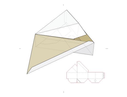 وکتور طرح گسترده جعبه مثلثی