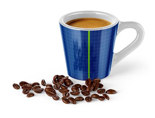 موکاپ فنجان قهوه