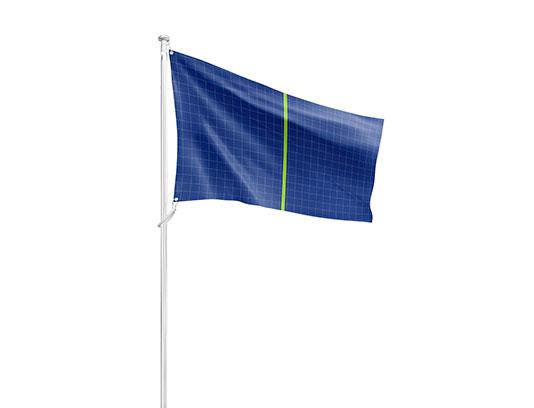 موکاپ پرچم برافراشته لایه باز