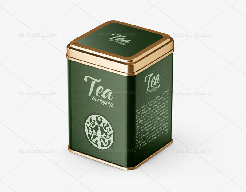 طراحی بسته بندی قوطی چای با نقوش اسلیمی