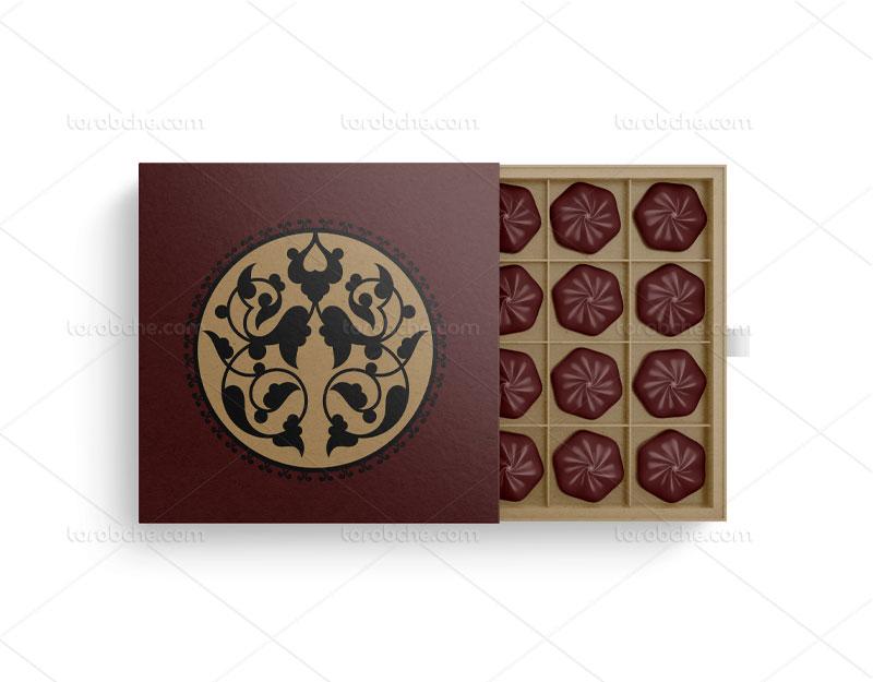 طراحی بسته بندی شکلات با وکتور تذهیب