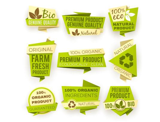 وکتور لیبل محصولات طبیعی