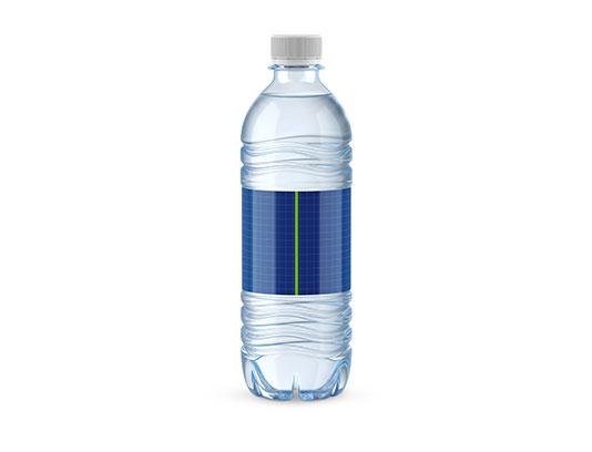 موکاپ لایه باز بطری آب معدنی کوچک