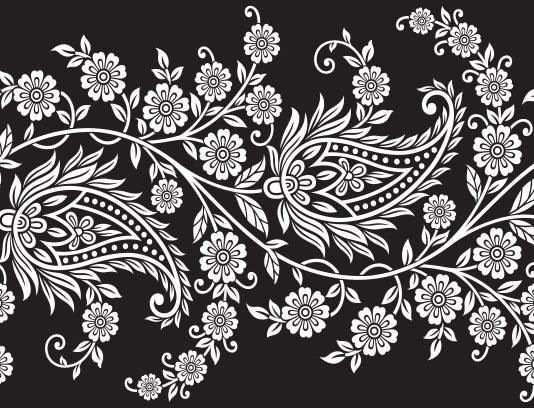 وکتور زمینه سنتی مشکی سفید