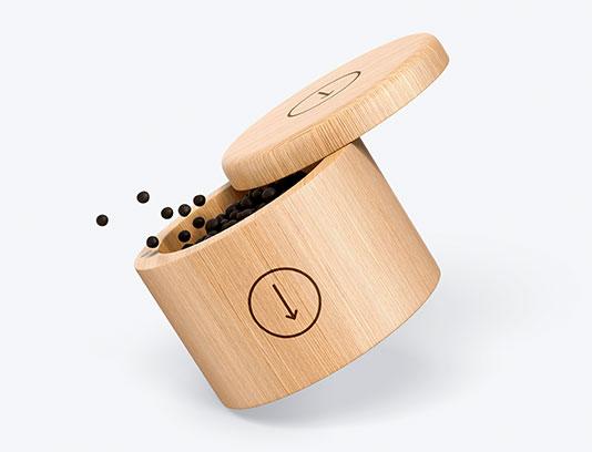 موکاپ ظرف ادویه چوبی